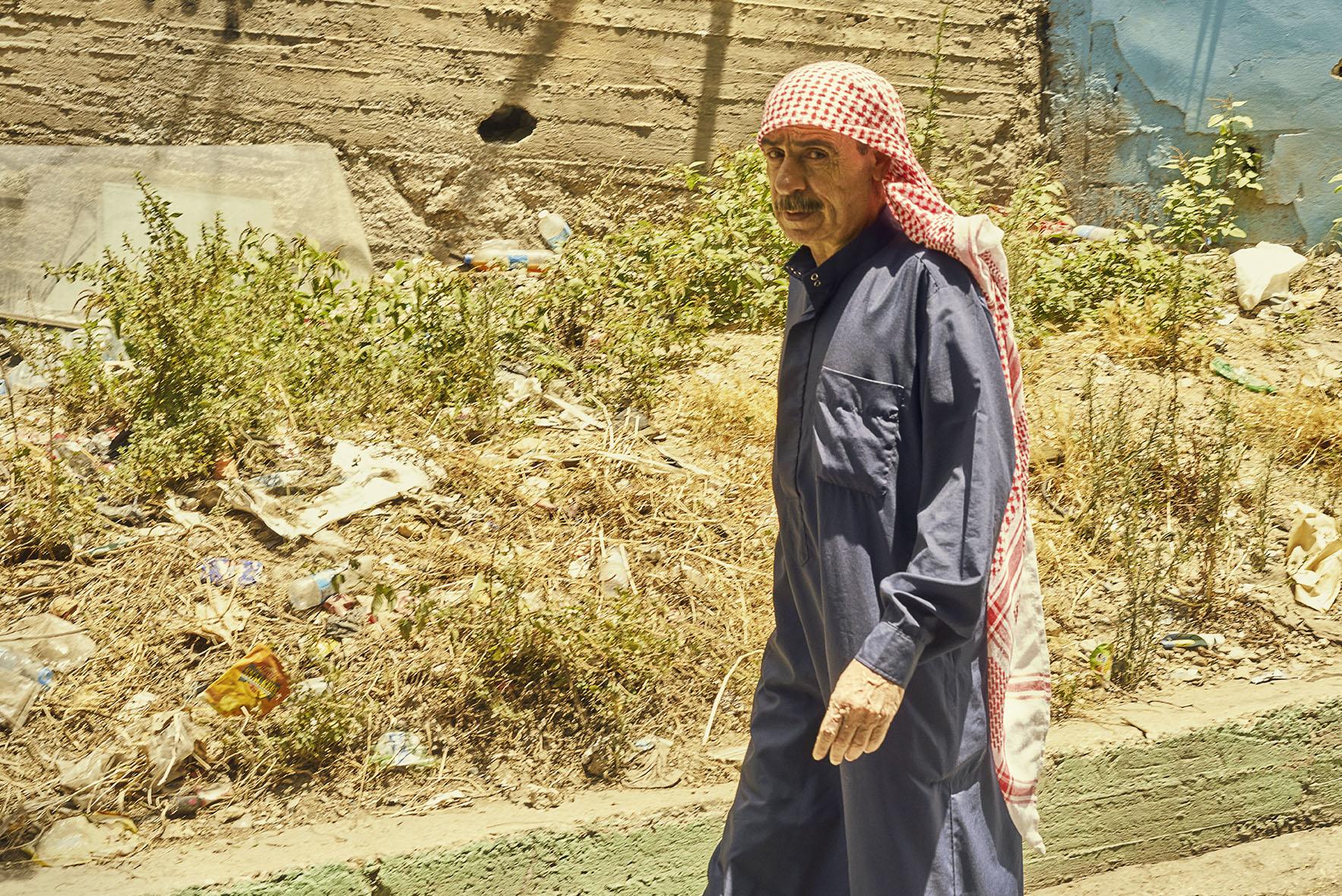 Palestinian Guy walking
